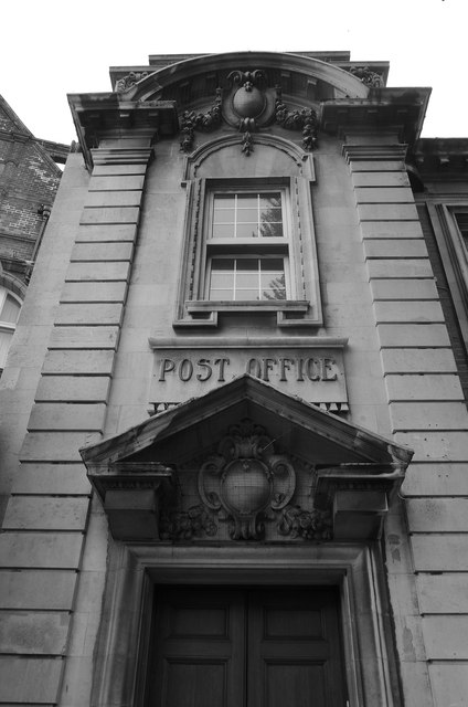 Former post office, Eastbourne: elevation detail