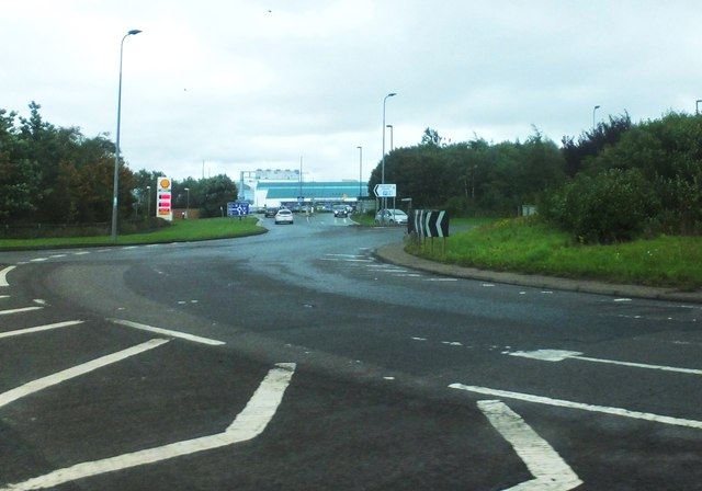 The A696 by Newcastle International Airport