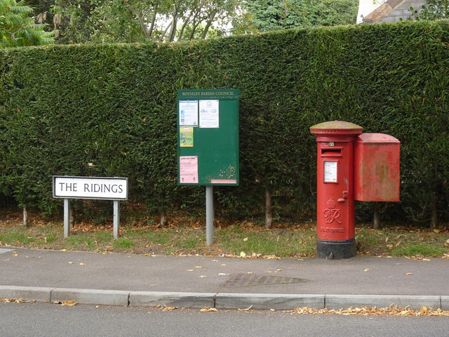 Rothley Plain postbox ref LE7 346