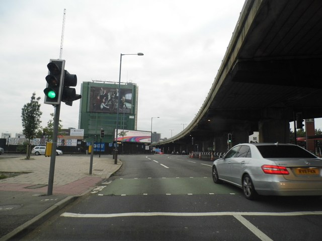 The A4 and M4 motorway flyover, Brentford