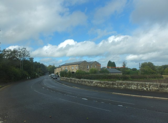 The A696 at Belsay