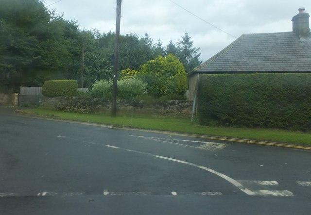 Minor road junction near Bolam Lake