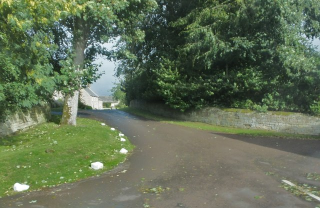 Road into Cambo village