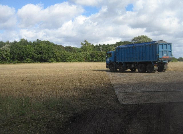 Delivering muck to the fields