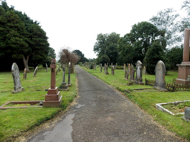 Path through St Michael's Cemetery Pembroke