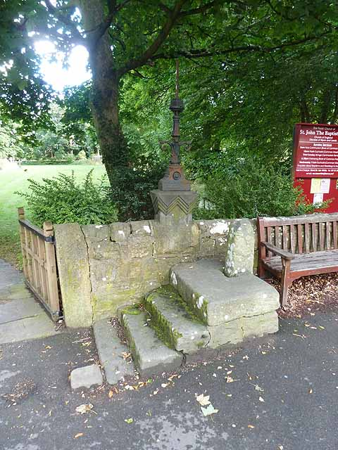 Mounting block outside Adel church