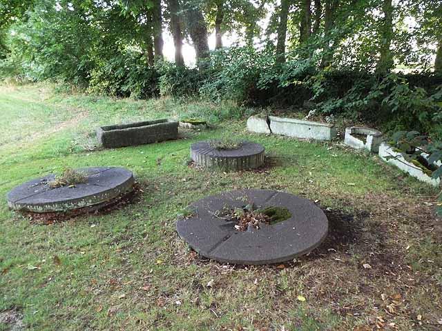 Relics in the corner of Adel churchyard