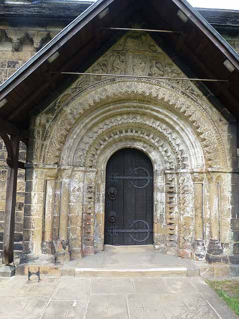 The magnificent Norman archway to Adel Church