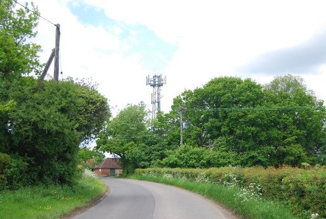 Mast near Climsett's Farm