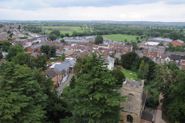 View over Pershore from the Abbey Tower
