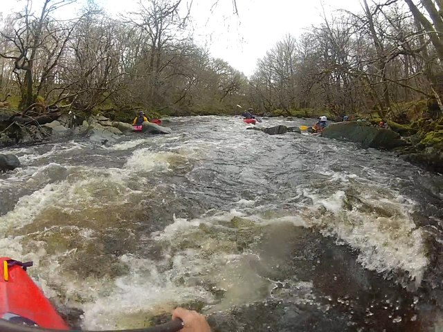 End of a rapid on the River Loy