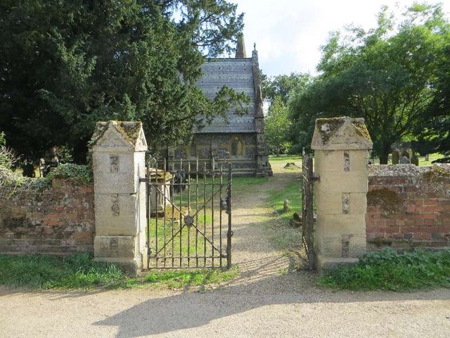 Side gate to the cemetery