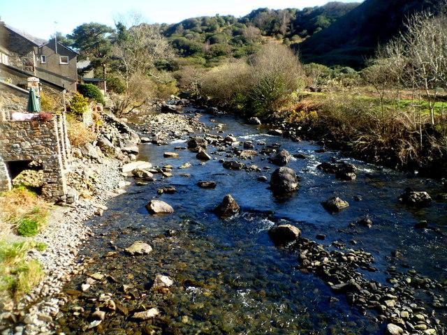 Rocky Afon Glaslyn in Beddgelert