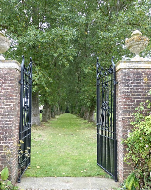Rymans - Gates leading out of the garden to north