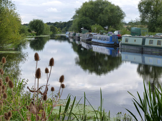 Looking up the River Soar