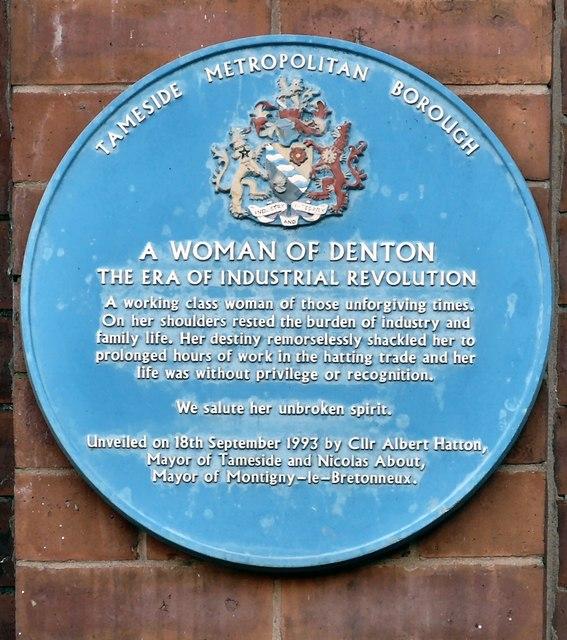 Blue plaque: A woman of Denton