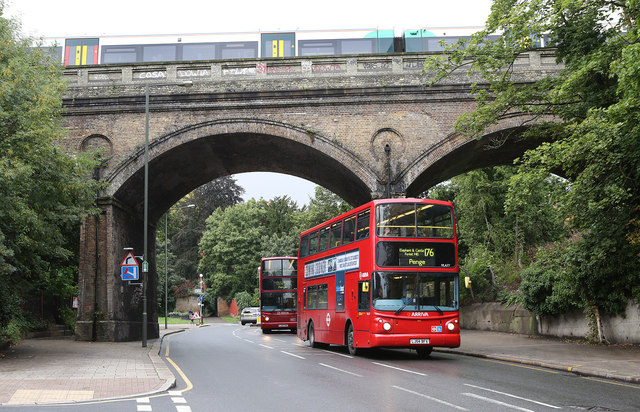 Bus And Train In Penge