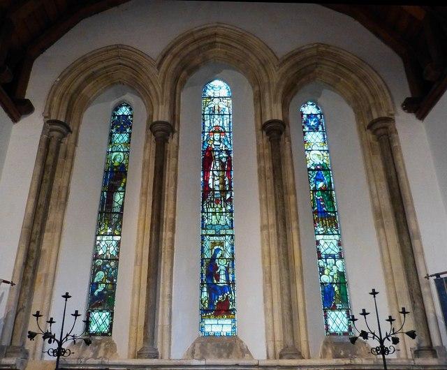 St Mary's, Apuldram - Triple lancet window
