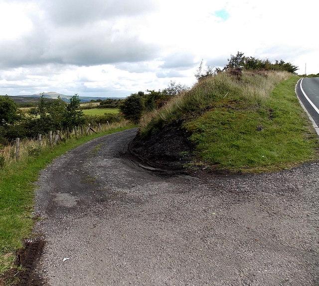 Access lane to Rhas Fawr Farm east of Brynmawr