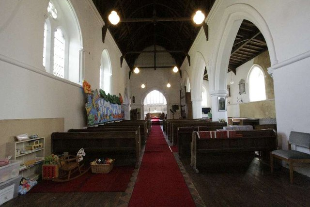 The nave in St Margaret