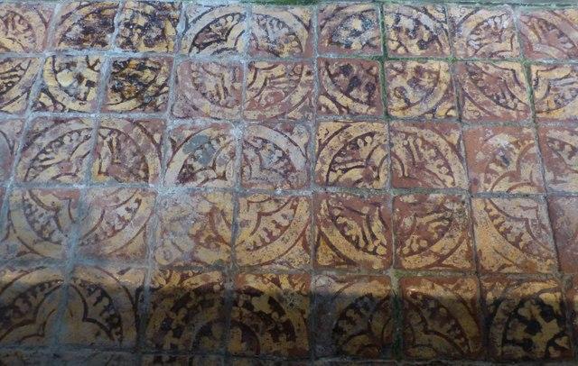 Fourteenth century encaustic tiles