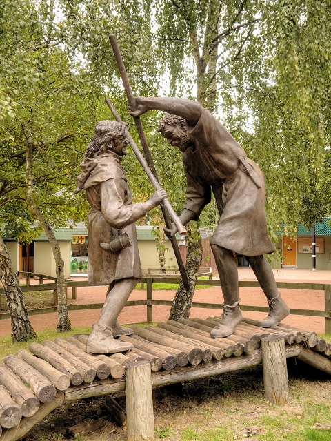 Sherwood Forest, Robin Hood Meets Little John For The First Time