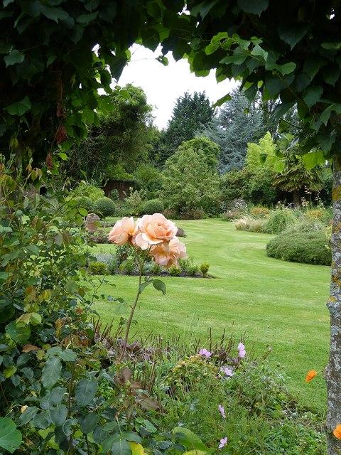 Rymans - view across garden