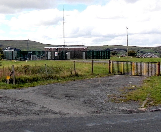 Gas valve compound at the eastern edge of Brynmawr