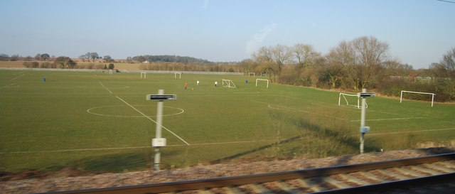 Football pitches, edge of Tamworth