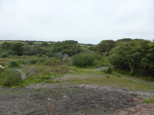 Derelict buildings at the Clay dry