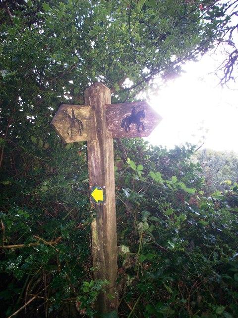 Fingerpost, Allen's Lane, Llanteg