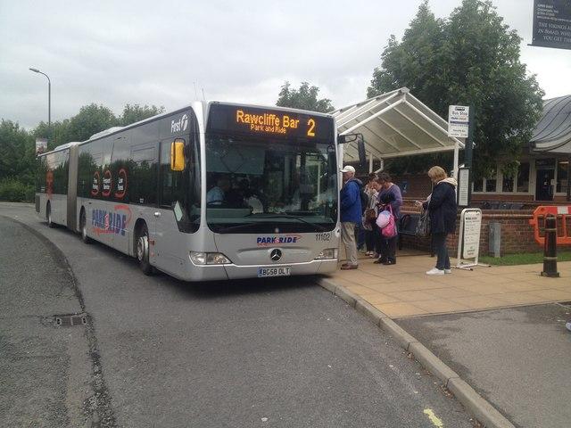 Park & Ride bus at Rawcliffe Bar