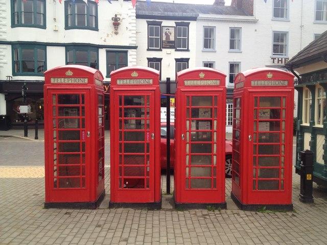 Telephone boxes, Market Place, Ripon