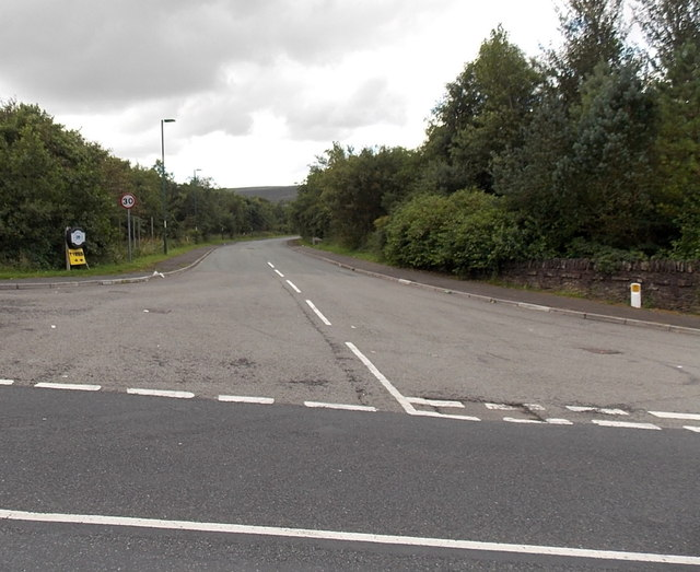 Road to Blaenant Industrial Estate Blaenavon