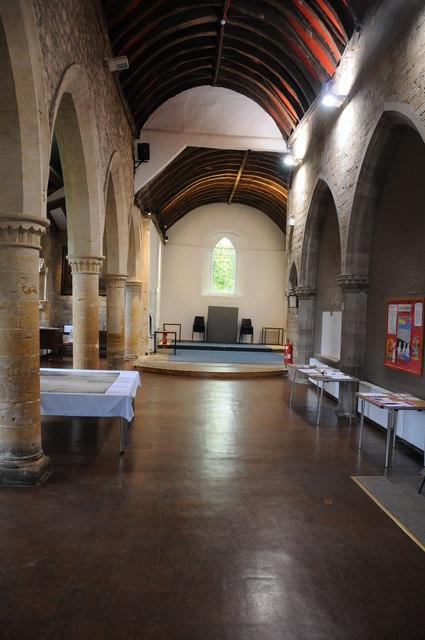 Interior of St Andrew's Parish Centre, Pershore:
