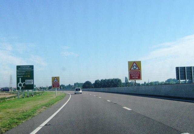 A46 northbound
