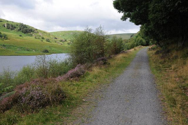 Path beside Penygarreg Reservoir