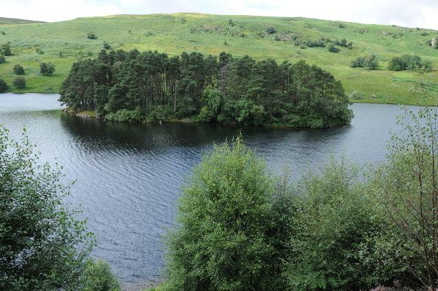 Island in  Penygarreg Reservoir