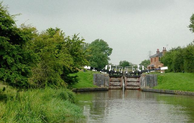Kibworth Top Lock north-east of Fleckney, Leicestershire
