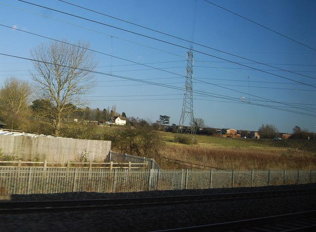 Pylon by the West Coast Main Line