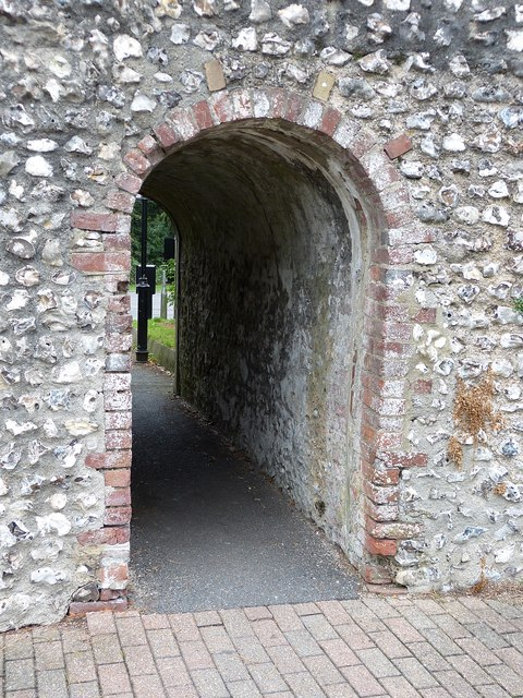 Chichester city walls - Archway passage