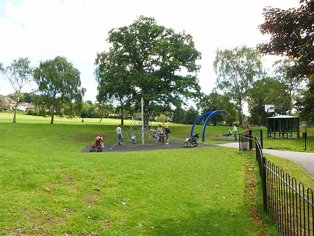 Children's playground in Meanwood Park