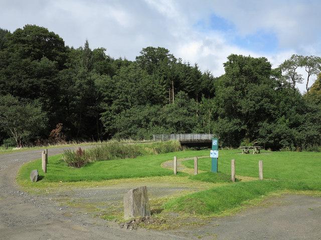 Car park in Cwm Hirnant