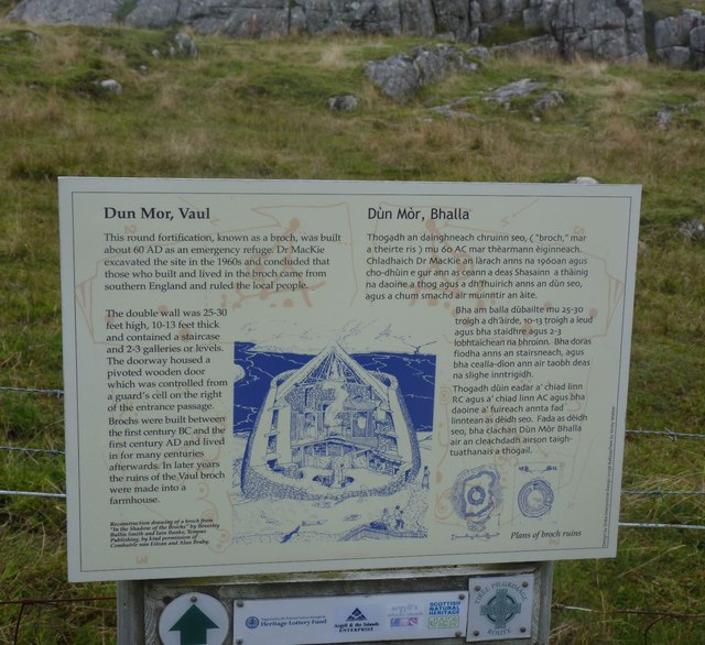 Information Board at Dun Mor, Vaul, Tiree