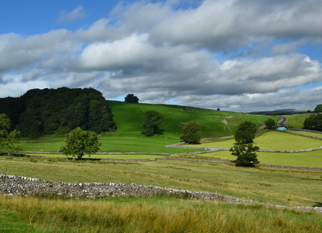 Greens, blues and yellows, in the Yorkshire Dales