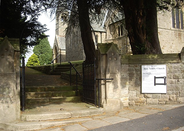 Stepped access to Holy Trinity Church, Eggleston