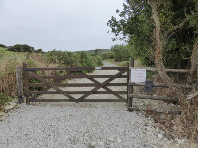 The entrance to St Ives Campsite, Amalwhidden