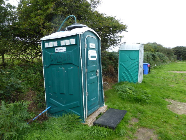 The facilities area, St Ives Campsite