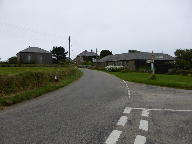 Road junction at Cold Harbour