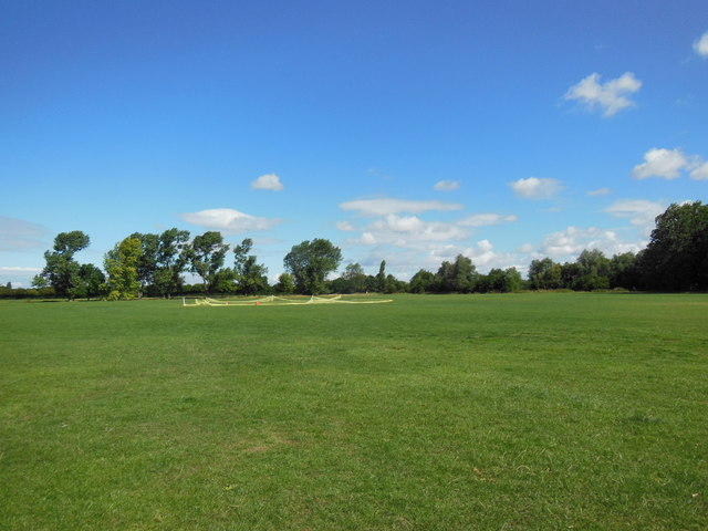 A cricket pitch at Oak Road playing fields